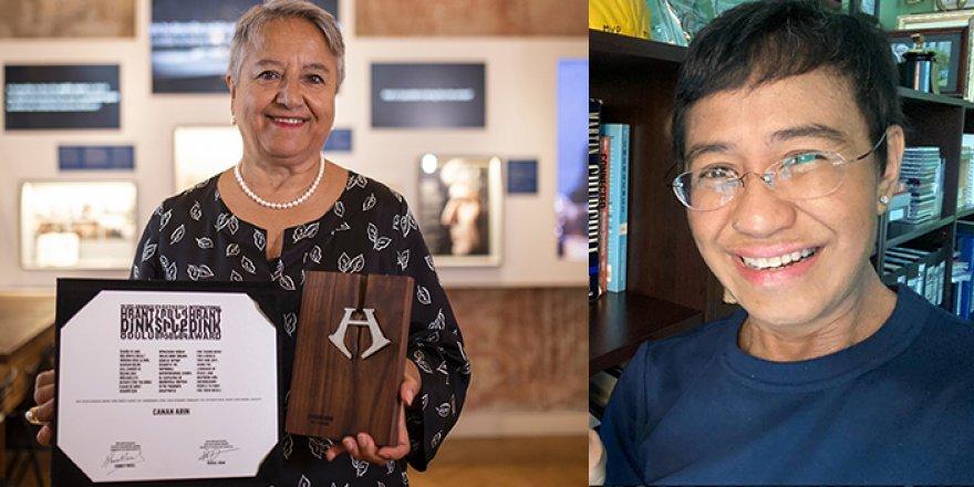 2021 Uluslararası Hrant Dink Ödülleri Canan Arın ve Maria Ressa'nın