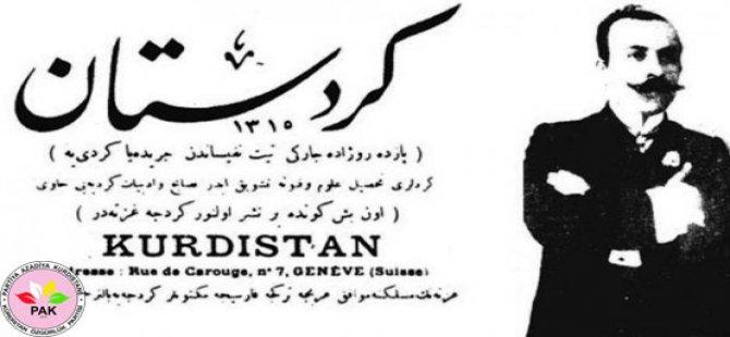 """PAK: """"Kürt gazetecilik tarihi mücadele ve ulusal aydınlanma tarihidir"""""""