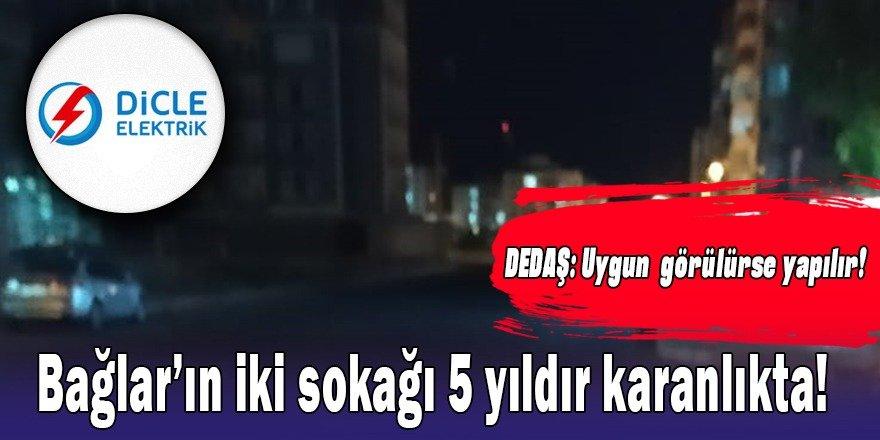 Diyarbakır Bağlar ilçesinin iki sokağı 5 yıldır karanlıkta!