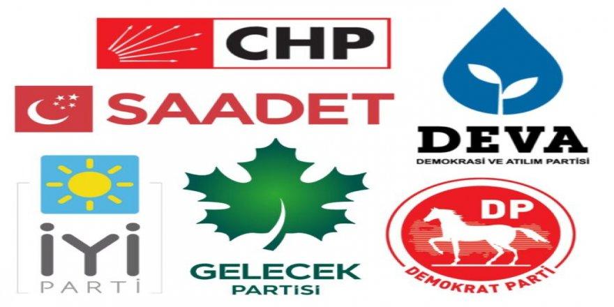 Altı parti parlamenter sisteme dönüş için toplantı yaptı
