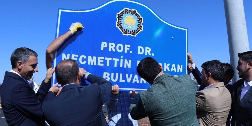 Diyarbakır'daki yeni bulvara Necmettin Erbakan'ın adı verildi