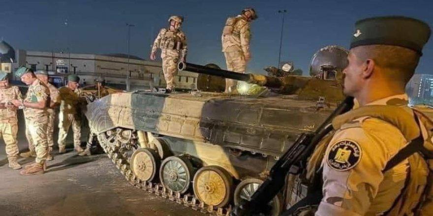 Milisler tehdit etti, güvenlik güçleri Bağdat'ta harekete geçti