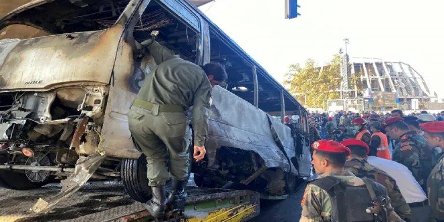 Şam'da askeri araca bombalı saldırı: En az 14 kişi öldü