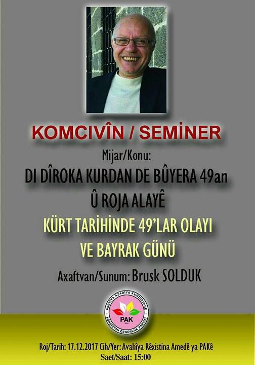 Diyarbakır'da 49'lar Olayı ve Bayrak günü konulu seminer