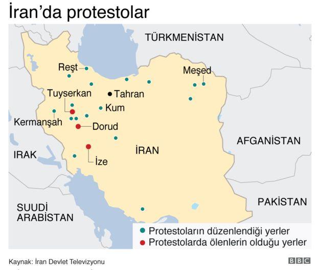 Video/ İran protestoları 5. gecesinde devam ediyor