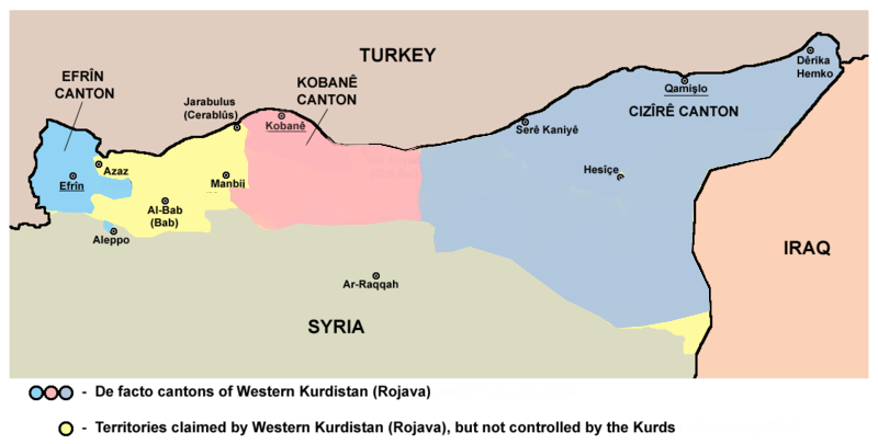 Fransa 'Batı Kürdistan'ı bağımsız devlet olarak tanıdı iddiası
