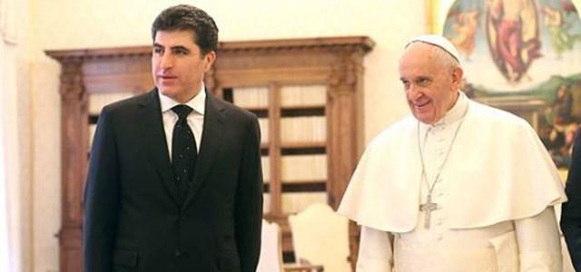 Başbakan Barzani, Vatikan'da Papa'yla görüştü