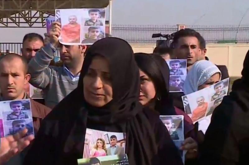 Esir Pêşmerge aileleri BM önünde evlatlarının akibetini sordu!