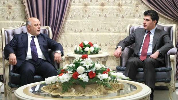 Başbakan Barzanî Bağdat'ta Abadi ile bir araya geldi