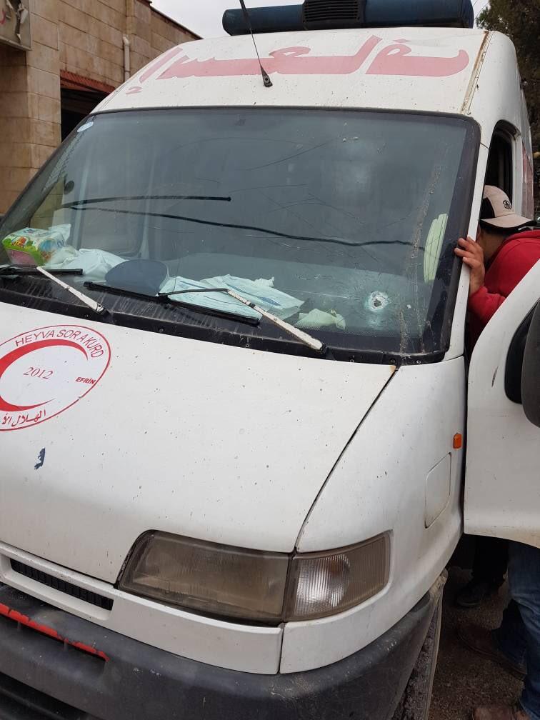 Afrin Cindires'te Türk uçakları ambulansı hedef aldı!