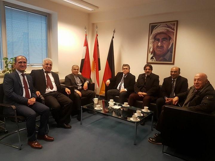 PAK Genel Başkanı Mustafa Özçelik Berlin'de Kürdistan Hükümeti Almanya Temsilcisi Dılşad Barzani'yi Ziyaret Etti.