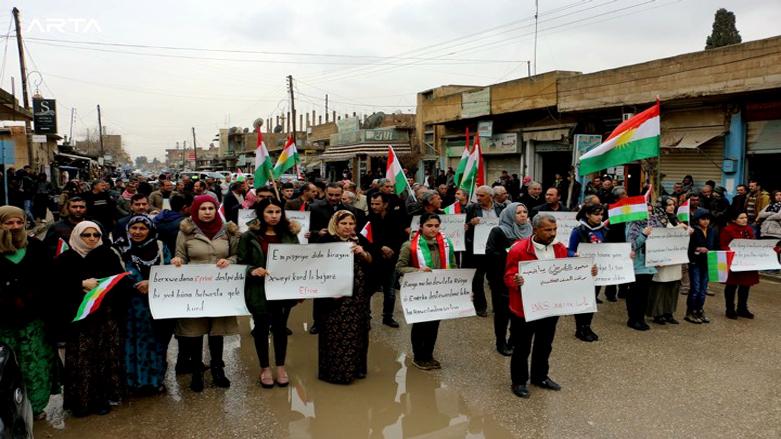 ENKS Qamışlo'da Afrin saldırılarını protesto etti