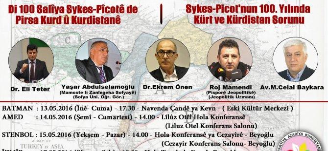 """""""Sykes-Picot'nun 100. Yılında Kürt ve Kürdistan Sorunu"""""""
