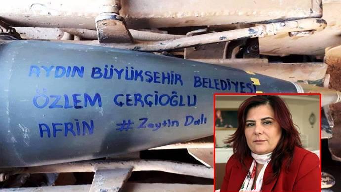 CHP'li başkanın ismi Efrin'e atılan bombanın üstünde