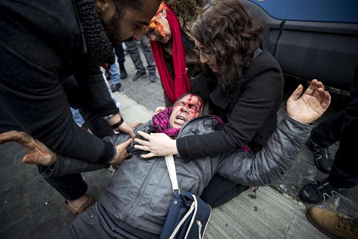 Roma'da Kürtler Erdoğan'ı protesto etti