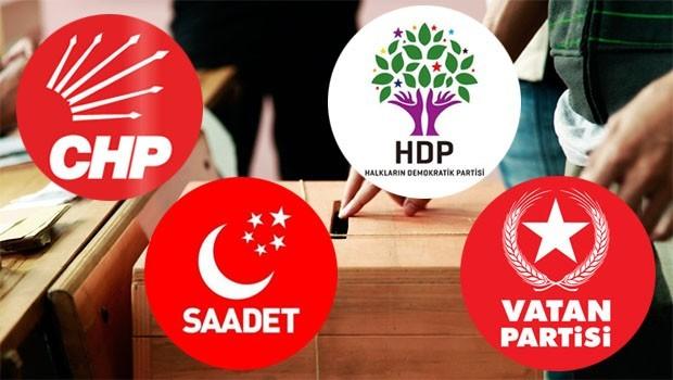 HDP, CHP, Saadet ve Vatan Partileri sandık güvenliğinde uzlaştı