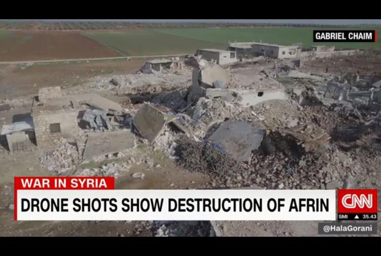 CNN: Afrin'in geçmişi, bugünü ve yarını yok ediliyor