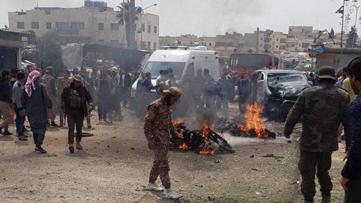 Azez'de otogarda bombalı araçla saldırı: 17 yaralı