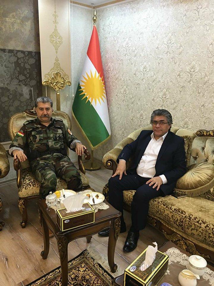 PAK Genel Başkanı Mustafa Özçelik Hewler'de Hüseyin Yezdanpena'yı Ziyaret Etti