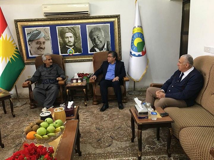 PAK Genel Başkanı Mustafa Özçelik PDK İran Genel Başkanı Mustafa Hicri'yi Ziyaret Etti