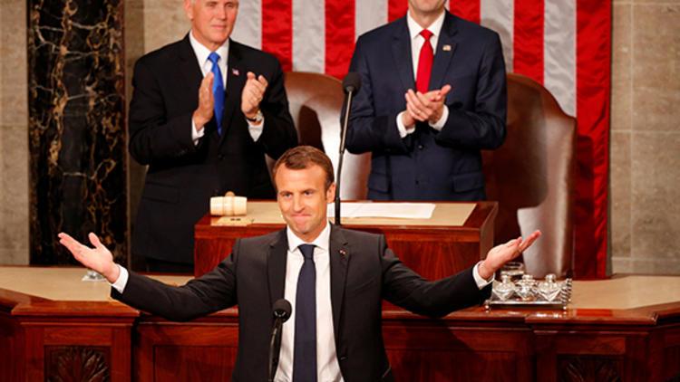 Macron, ABD Kongresinde konuştu