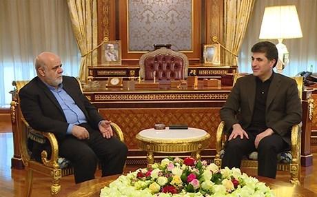 Başbakan Barzani ve İran büyükelçisini ağırladı