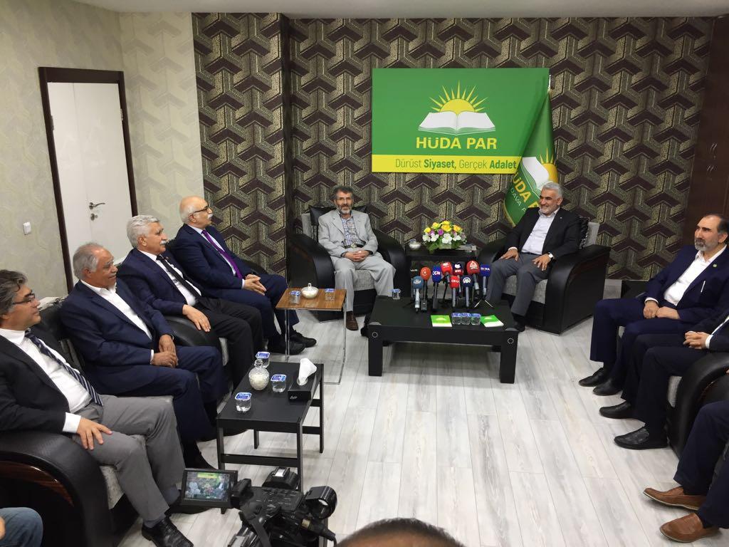 Kürdistanî Seçim İttifakı HÜDA-PAR'ı ziyaret etti