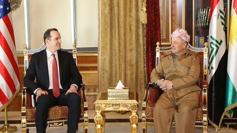 McGurk'tan Mesut Barzani'ye tebrik ziyareti