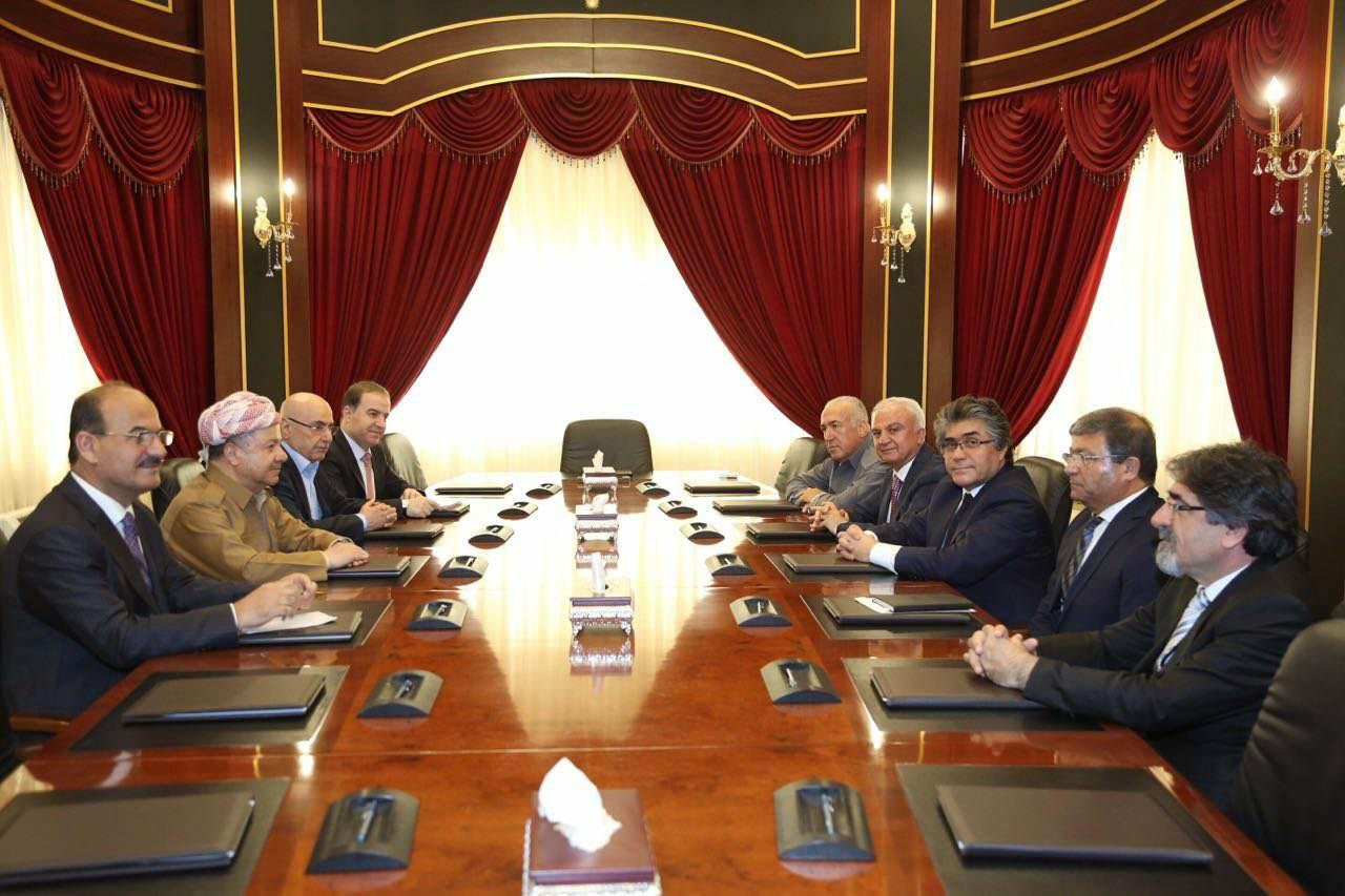 Başkan Sayın Mesud Barzani PAK Heyeti'ni Kabul Etti