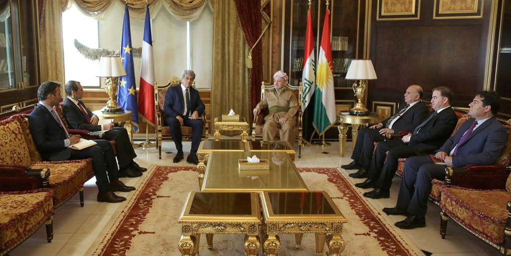 Fransa heyetinden Başkan Barzani'ye ziyaret