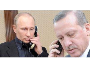 Erdoğan-Putin arasında telefon görüşmesi