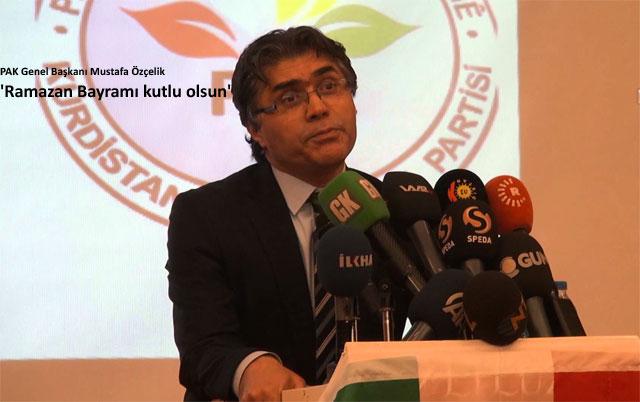 'Bayramın Kürdistani birlik ve ittifaklara vesile olmasını diliyoruz'