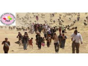 PAK: Şengal Kürdistan'dır, Ezidilerin acılarını paylaşıyoruz