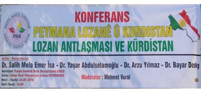 Konferans:''Lozan Antlaşması ve Kürdistan''