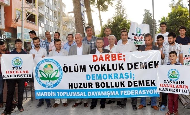 Mardin Federasyonu Darbe girişimini kınadı.