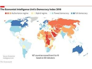 The Economist: Demokrasi endeksinde Türkiye 110. sırada