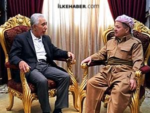 Mesud Barzani Kürt Siyasetçi Mehdi Zana İle Biraraya Geldi