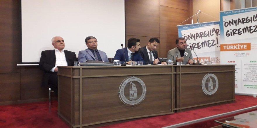 Bağımsız Aday Feyyaz Ekmen, BKMM toplantısına katıldı