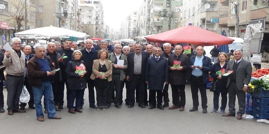 Bağımsız Adaylar Bağlar'da bildiri dağıttı