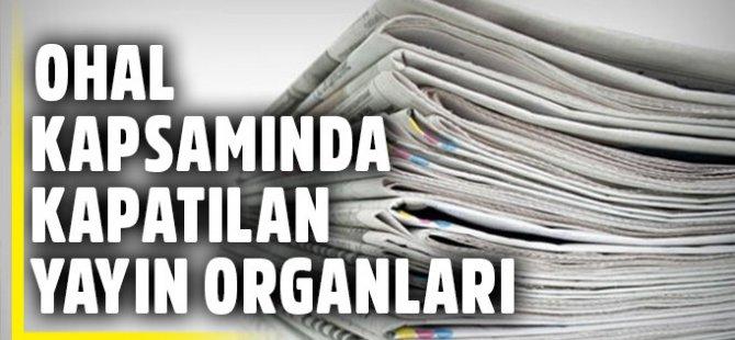 Kanun Hükmünde Kararnameyle 16 TV Kanalı, 45 Gazete Kapatıldı