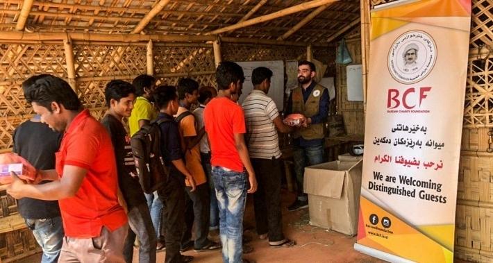 Barzani Yardım Vakfı'dan Rohingaylı mültecilere yardım