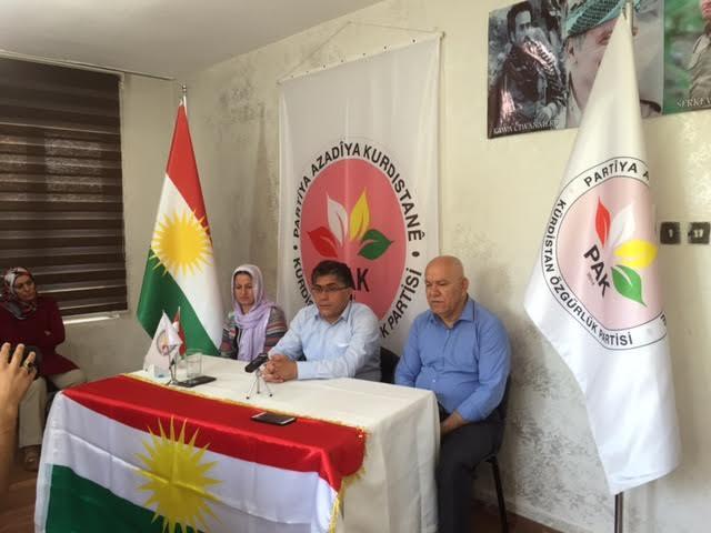 PAK Genel Başkanı Özçelik:Darbelere, OHAL'e, sıkıyönetimlere, savaşa hayır; Kürt ve Kürdistan meselesinin eşitlik temelinde politik çözümüne evet