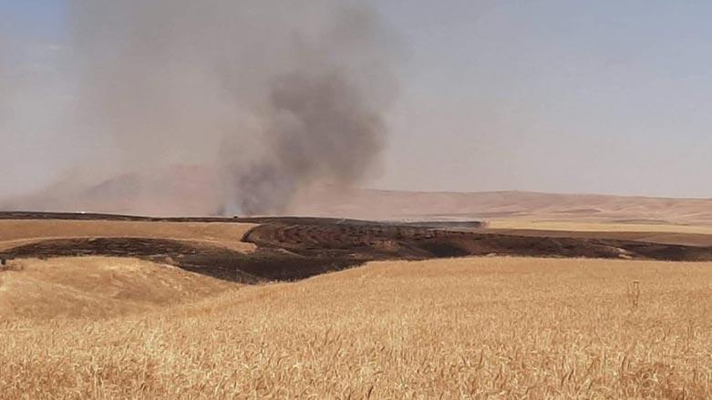 Bu sefer de Mahmur'da ekinler ateşe verildi