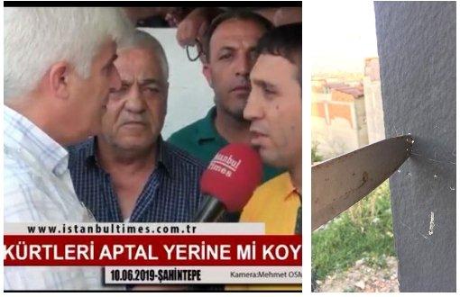 Seçim değerlendirmesi yapan Kürd'e bıçaklı tehdit !