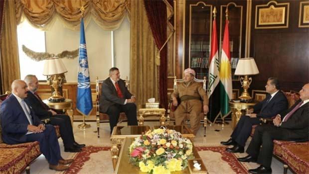 Barzani, BM Heyetini Kabul Etti