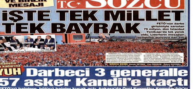 Sözcü: 3'ü general 60 darbeci subay Kandil'e gidip PKK'ya sığındı