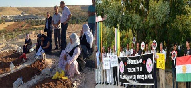 PAK Gaziantep Şehitleri'nin Taziyesine Katıldı, Batman'da da Gaziantep'teki  Katliamı Protesto Etti