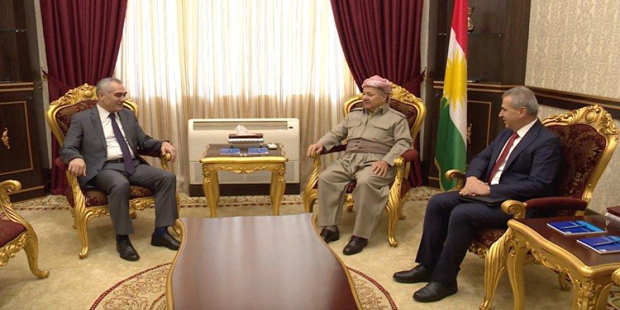 Mesud Barzani ENKS'yle görüştü