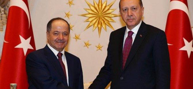 Barzani Ankara'da Erdogan ve Yildirim ile görüştü