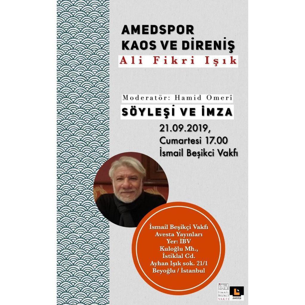 Söyleşi ve İmza: Amedspor Kaos ve Direniş Ali Fikri Işık